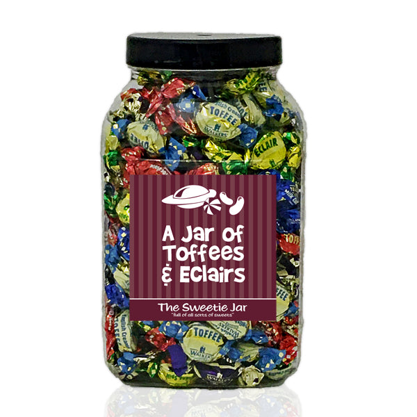 A Large Jar of Assorted Toffees & Eclairs - Jars of Retro Sweets at The Sweetie Jar