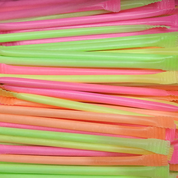 Rainbow Dust : x40 - Plastic straws filled with fruit flavour sherbet crystals