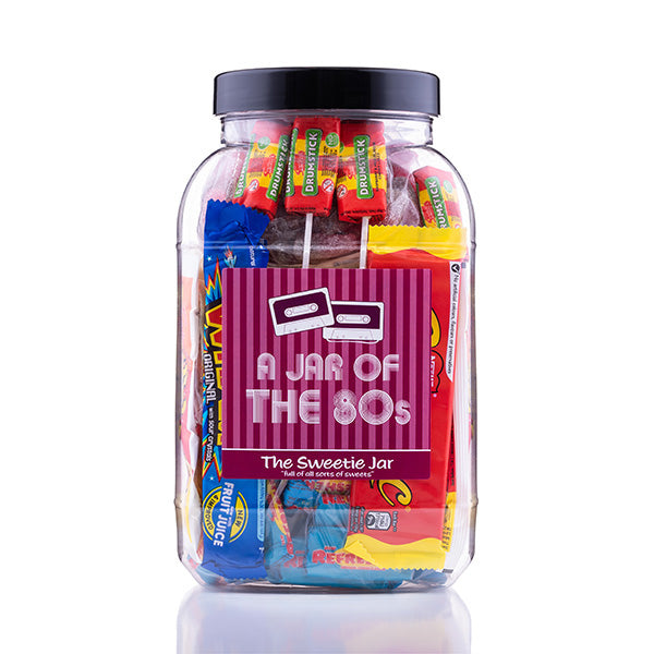 A Large Sweet Jar of 80s Sweets - Full of Retro Sweets you'll remember from the 80s decade