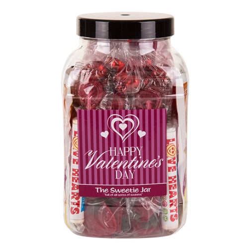 Happy Valentines Day Gift Jar : Large - A Gift Jar Full of Romantic Sweets