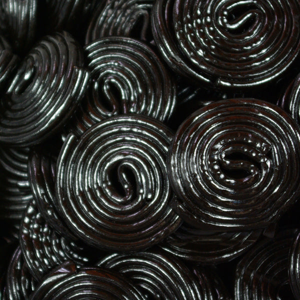 Liquorice Wheels : 200g - A long cable of liquorice coiled round.. and round..
