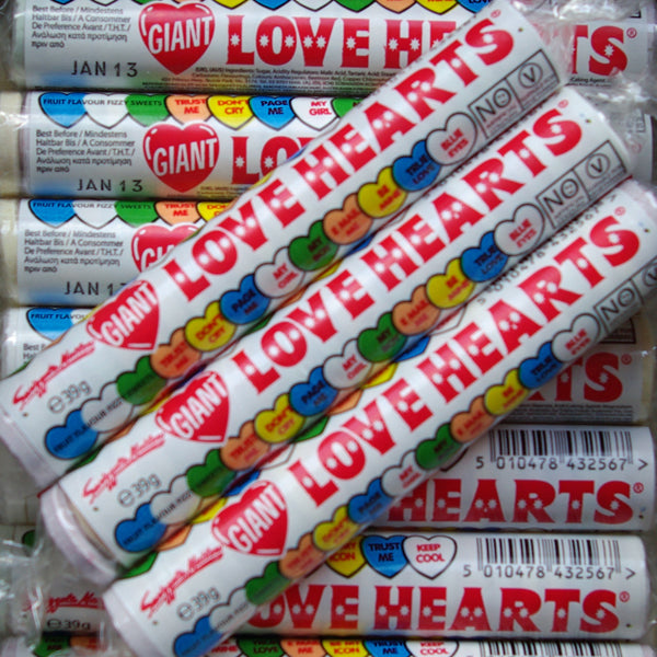 Love Hearts : x8 - Fruit Flavour Fizzy Sweets