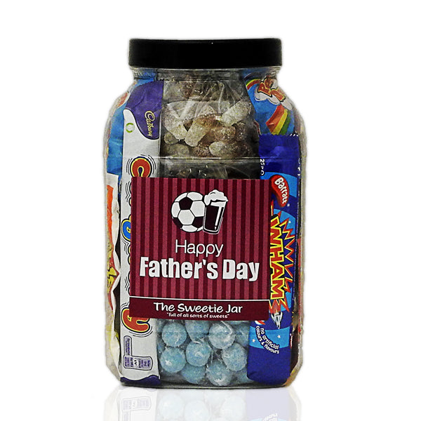 Happy Father's Day Gift Jar : Large - A Personalised Sweet Jar for Father's Day!
