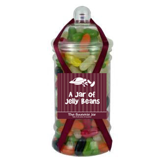 Victorian Jar of Jelly Beans - An Assortment of Kidney Shaped Panned Beans