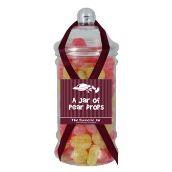 Victorian Jar of Pear Drops - Pear Flavour Hard Boiled Sweets