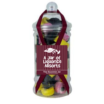 Victorian Jar of Liquorice Allsorts - A traditional liquorice allsorts sweet selection