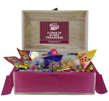 Retro Sweets Wooden Chest : Large - A Novel and Unusual Sweet Gift!