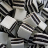Black and White Mints : 200g - Square Shaped Pieces with White, Mint Flavour Cream Paste and Liquorice