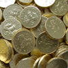 Milk Chocolate Coins : 150g - Around 35mm in size