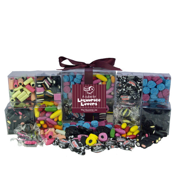 Liquorice Sweets Cube : 1.9kg - Filled with all sorts of old fashioned liquorice sweets