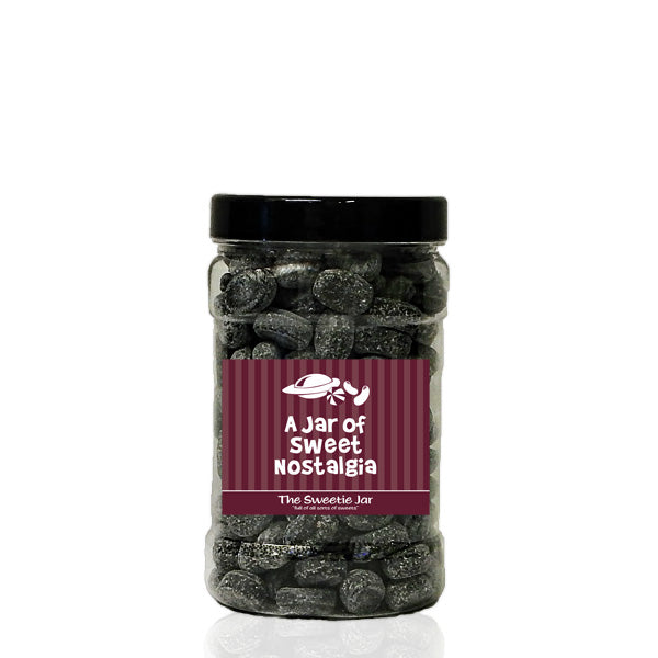 A Small Jar of Army and Navy - Aniseed, Liquorice & Paregoric Flavour Sweets at The Sweetie Jar