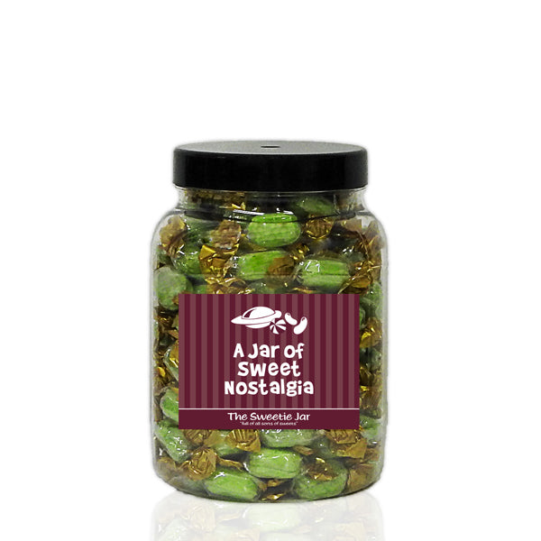 A Medium Jar of Chocolate Limes - Lime Flavour Boiled Sweets with a  Milk Chocolate Centre