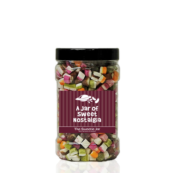 A Small Jar of Dolly Mixtures - Multicoloured Candy and Jelly Sweets at The Sweetie Jar