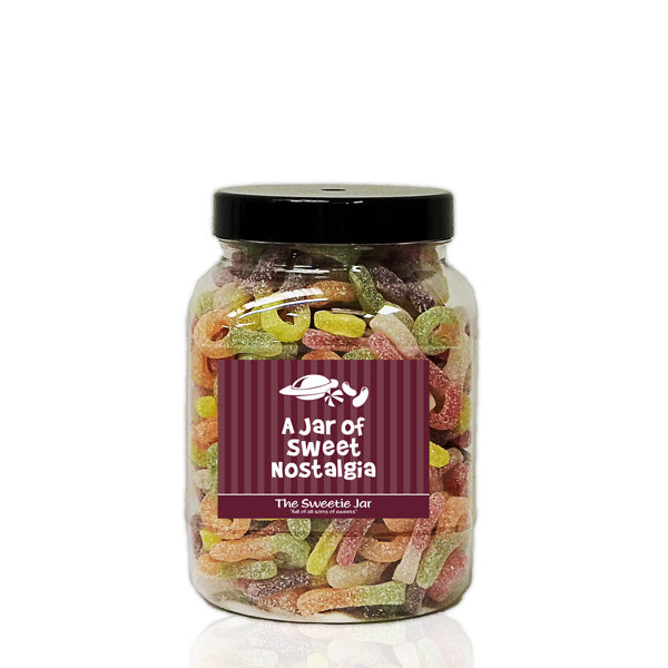 A Medium Jar of Fizzy Sour Dummies - Retro Sweets Jars at The Sweetie Jar