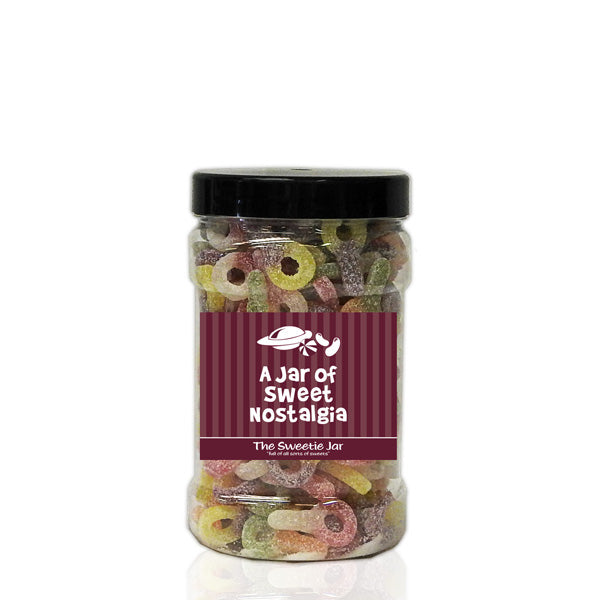 A Small Jar of Fizzy Sour Dummies - Retro Sweets Jars at The Sweetie Jar