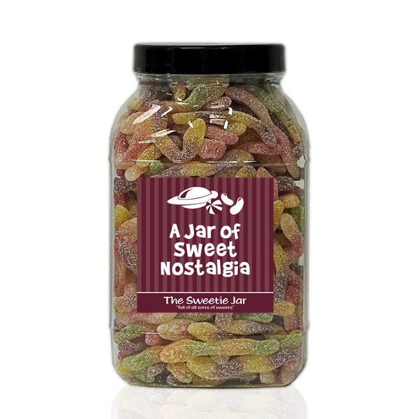 A Large Jar of Fizzy Jelly Snakes - Sour Fruit Flavour Jelly Sweets