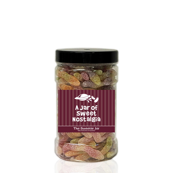 A Small Jar of Fizzy Jelly Snakes - Sour Fruit Flavour Jelly Sweets