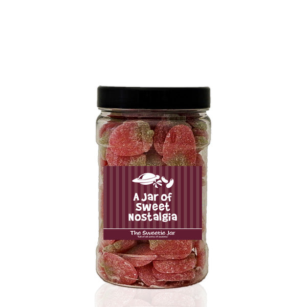 A Small Jar of Fizzy Strawberries - Sour Fruit Flavour Jelly Sweets at The Sweetie Jar