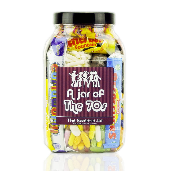 A Large Sweet Jar of 70s Sweets - Full of Retro Sweets you'll remember from the 70s decade