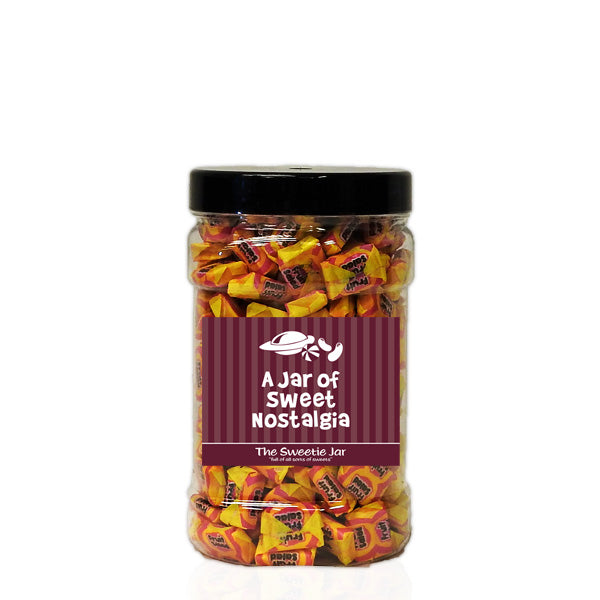A Small Jar of Fruit Salad Chews - Raspberry and Pineapple Chews