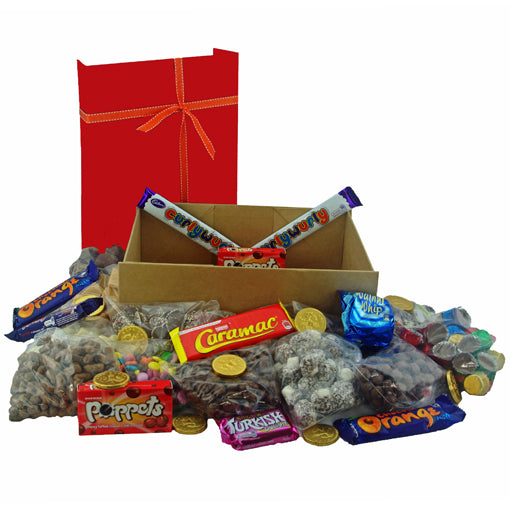 Chocolate Sweets Gift Box  - A nostalgic collection of chocolatey sweets