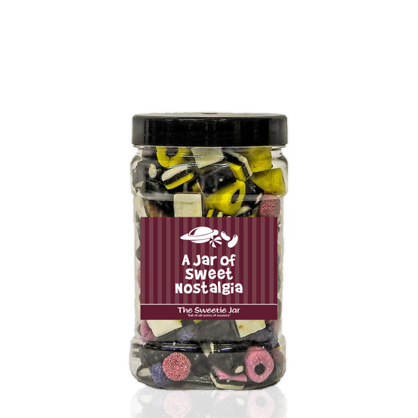 A Small Jar of Liquorice Allsorts - Retro Sweet Gift Jars at The Sweetie Jar