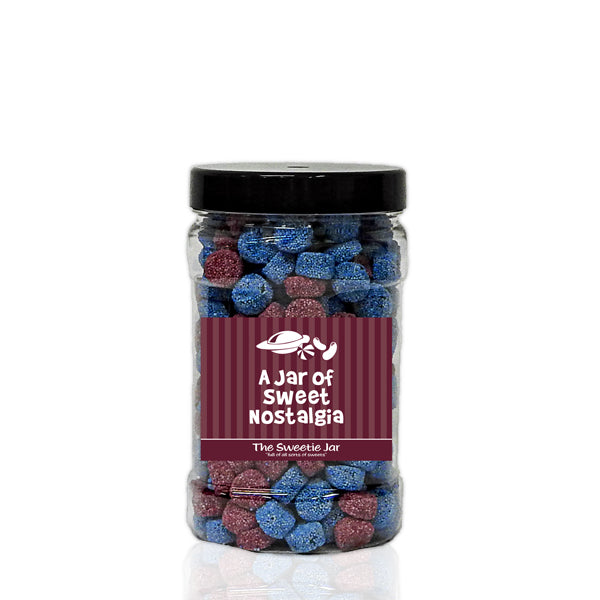 A Small Jar of Jelly Spogs - Aniseed Flavour Jellies Coated with Non Pareils
