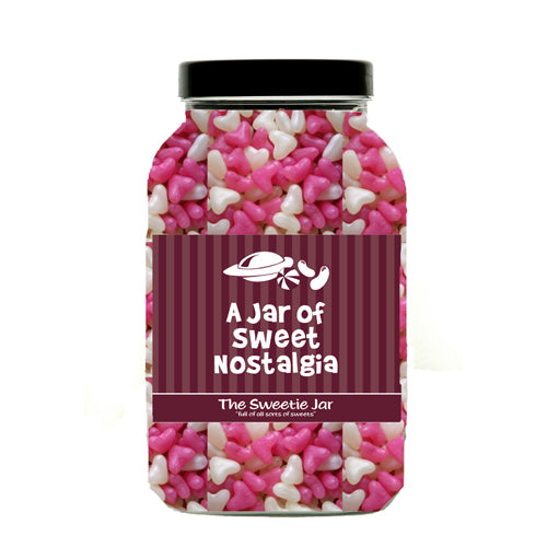 Jelly Love Hearts Sweet Jar : Large - An Assortment of Fruit Flavour Jelly Bean Hearts