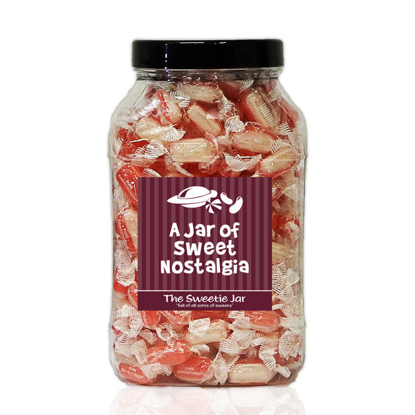 Strawberry & Cream Large Sweet Jar - Retro Sweets Gift Jars In 4 Sizes