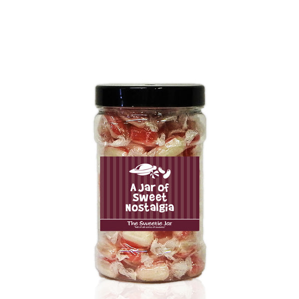 Strawberry & Cream Small Sweet Jar - Retro Sweets Gift Jars In 4 Sizes