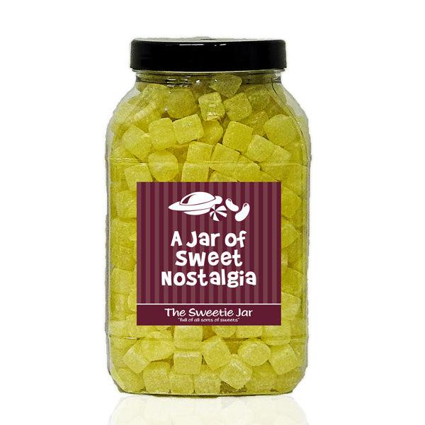 A Large Jar of Pineapple Cubes - Retro Sweets Gift Jars at The Sweetie Jar