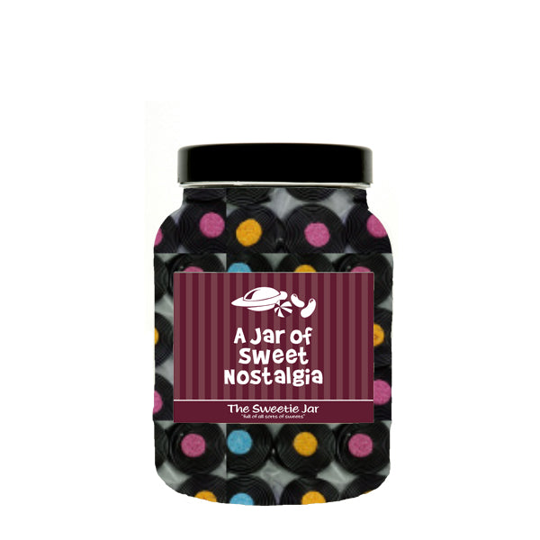 Liquorice Catherine Wheels Sweet Jars  - Gift Jars In 3 Sizes