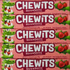 Chewits, Strawberry : x4 - Strawberry Flavour Chewy Sweets