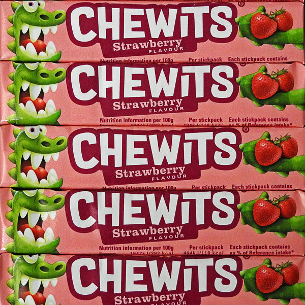 Chewits - Strawberry Flavour Chewy Sweets