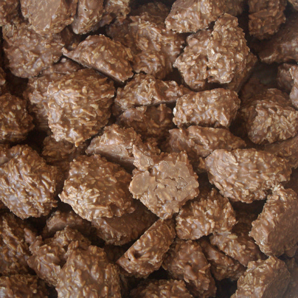 Milk Chocolate Coconut Macaroon Clusters : 200g - A Cluster of Desiccated Coconut with Milk Chocolate