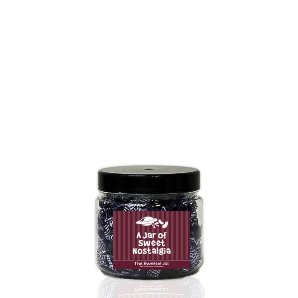 An XSmall Jar of Blackcurrant and Liquorice - Blackcurrant and Liquorice Flavour Boiled Sweets