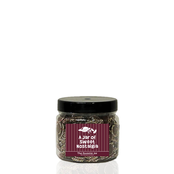 An XSmall Jar of Jazzies - Milk Chocolate Flavour Candy with Candy Topping