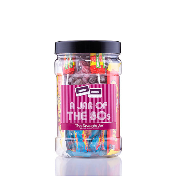 A Jar of 80s Sweets - Full of Old Favourites & Retro 80s Sweets