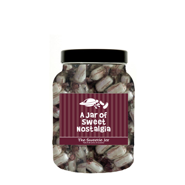 A Medium Jar of Chocolate Mints - Mint Flavour Boiled Sweets with a Chocolate Centre