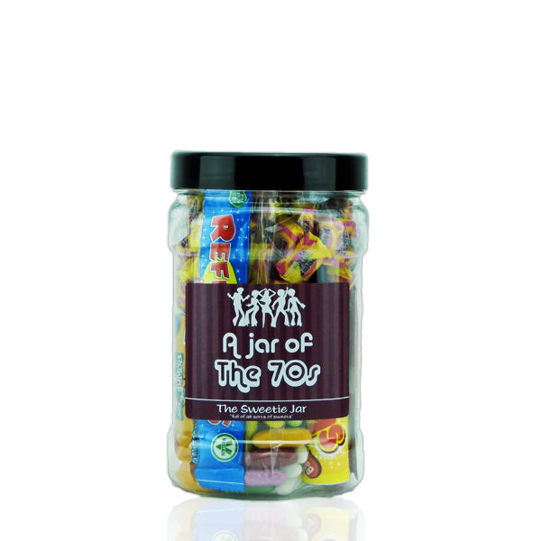 A Small Jar of 70s Sweets - Full of Retro Sweets you'll remember from the 70s decade