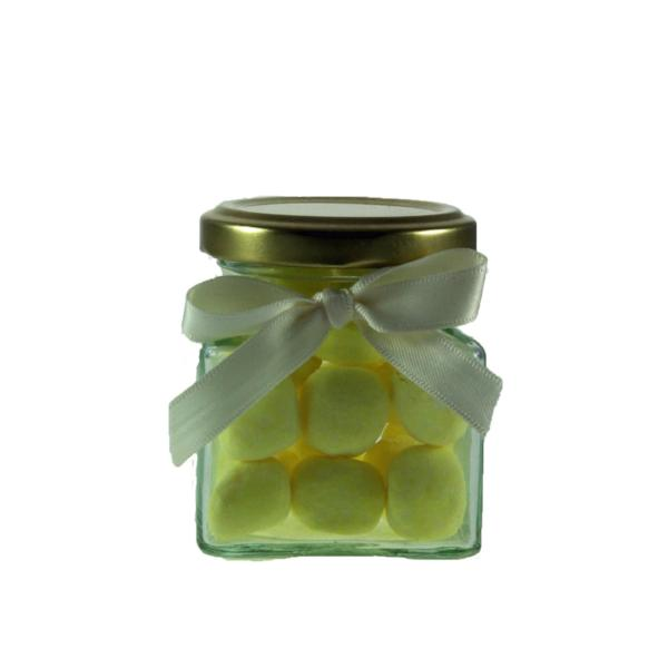 Mini Jar of Lemon Bonbons - Sugar Dusted Lemon Flavour Chewy Sweets
