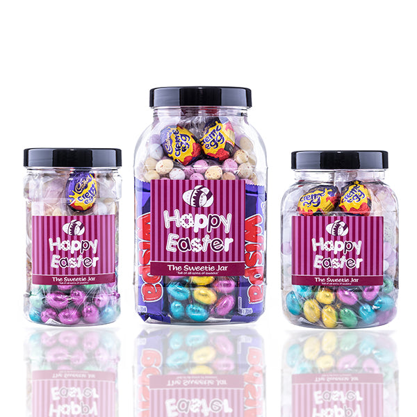Happy Easter Gift Jar : Large - A Retro Sweets Gift for Easter
