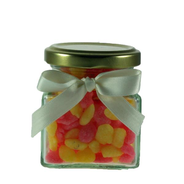 Mini Jar of Sherbet Pips - Little pink & yellow sherbetty sweets.