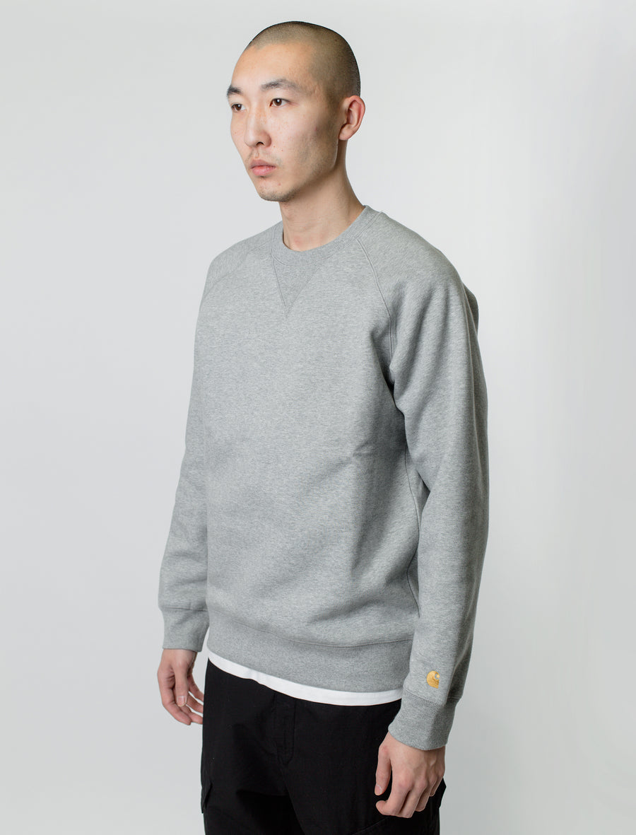 Carhartt WIP Chase Sweater Heather Grey