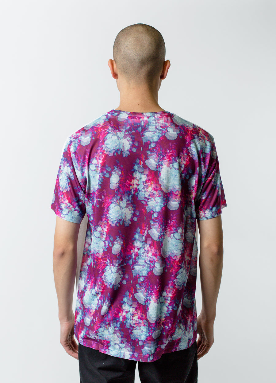 Craig Green Vibrating Floral Back Tee Purple