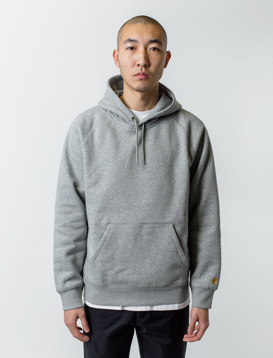 Carhartt WIP Chase Hoodie Heather Grey