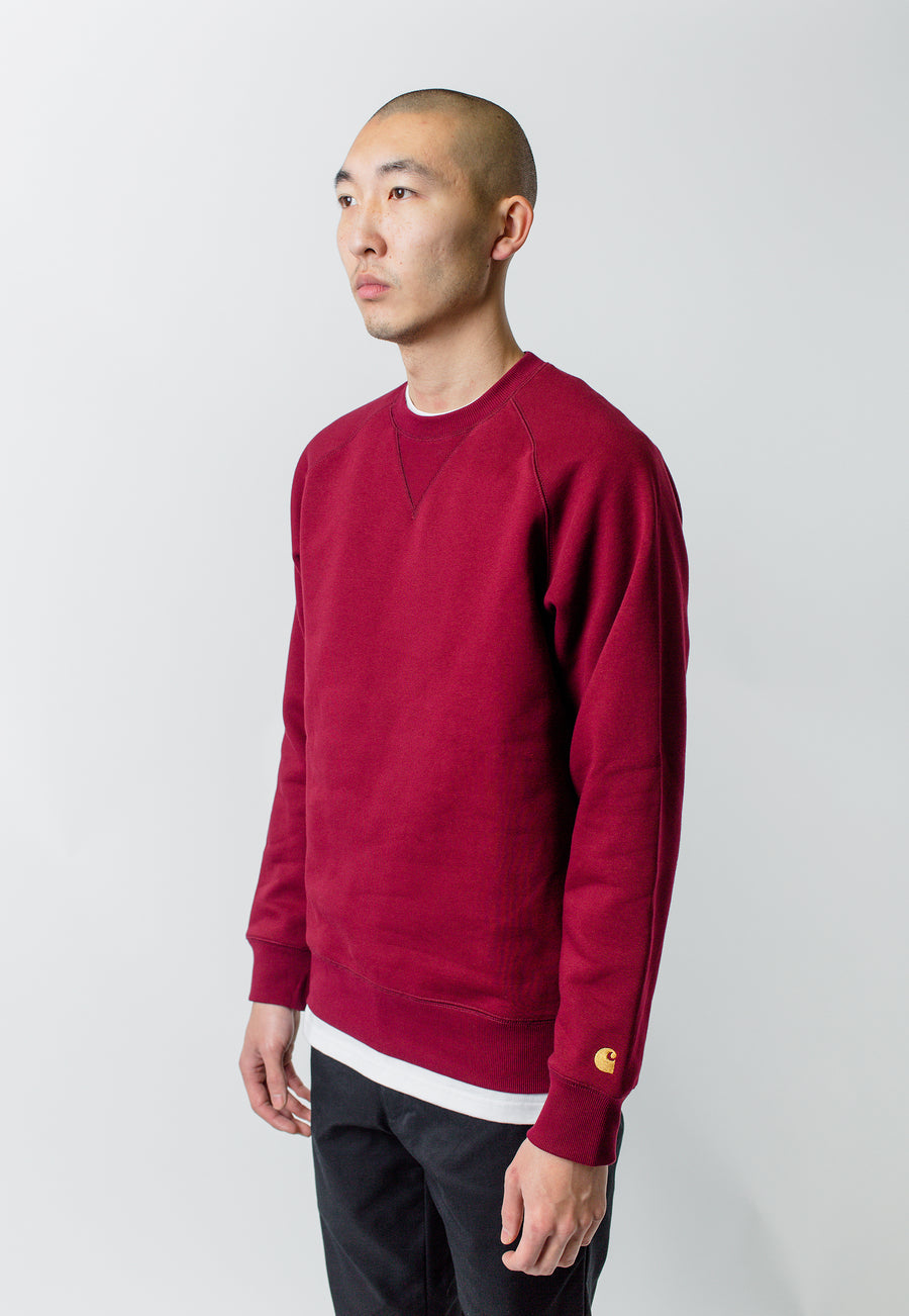 Carthartt WIP Chase Sweater Cranberry