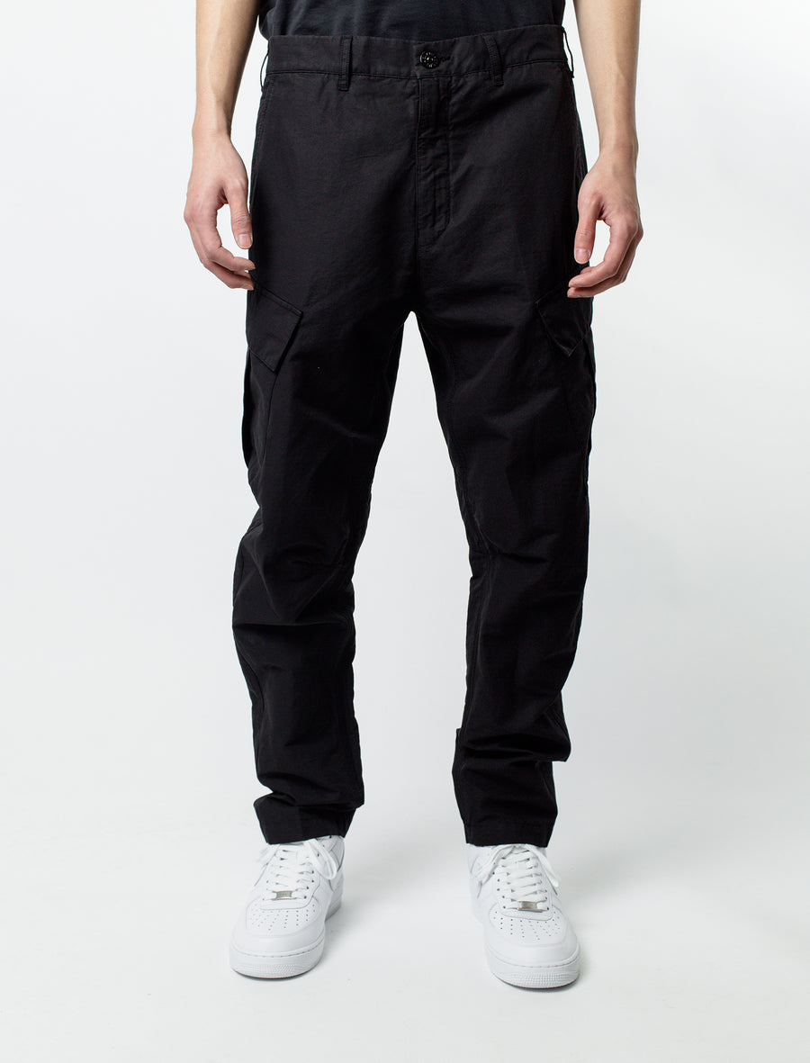 Stone Island Shadow Project Linen Canvas Cargo Pant Black