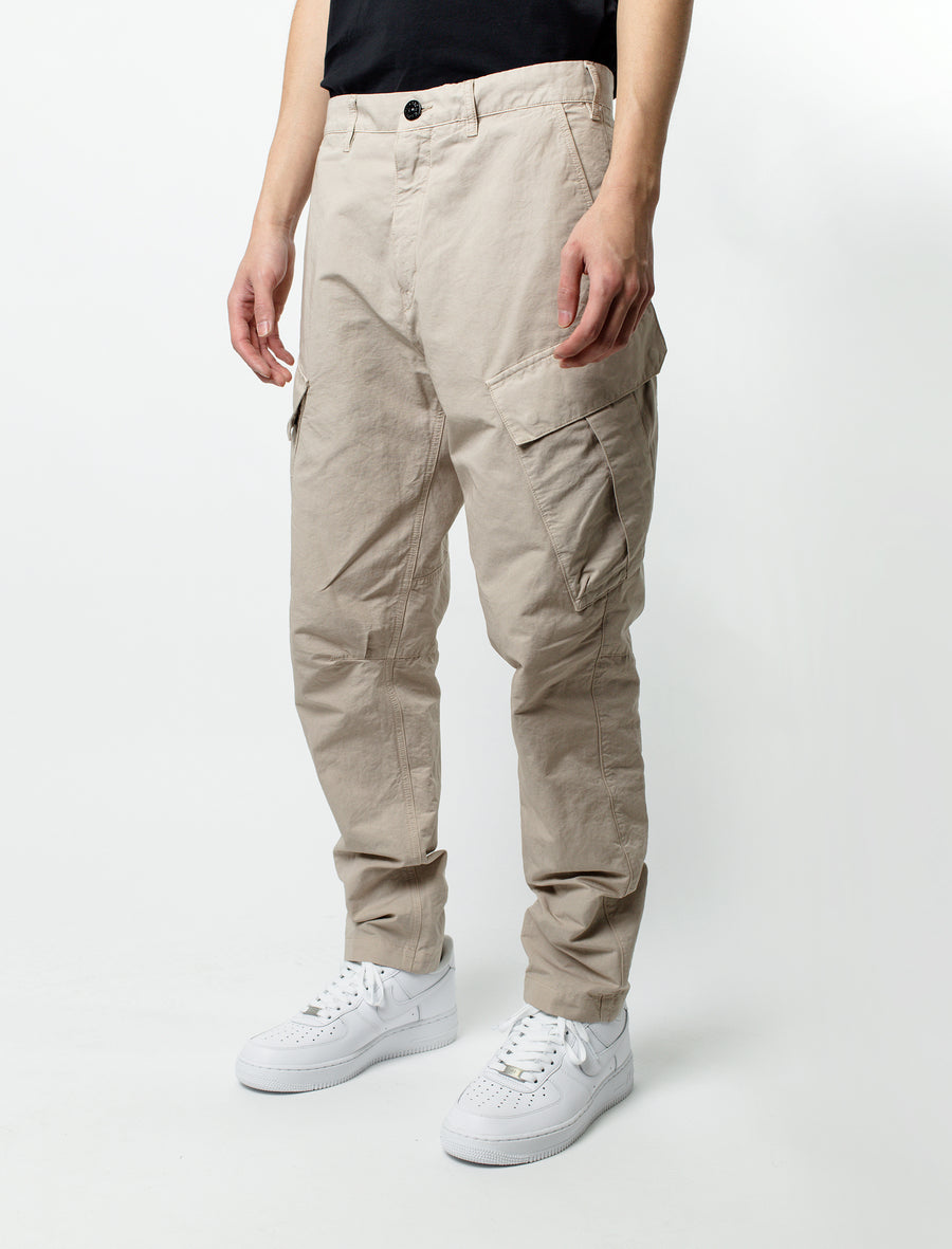Stone Island Shadow Project Linen Canvas Cargo Pant Sand