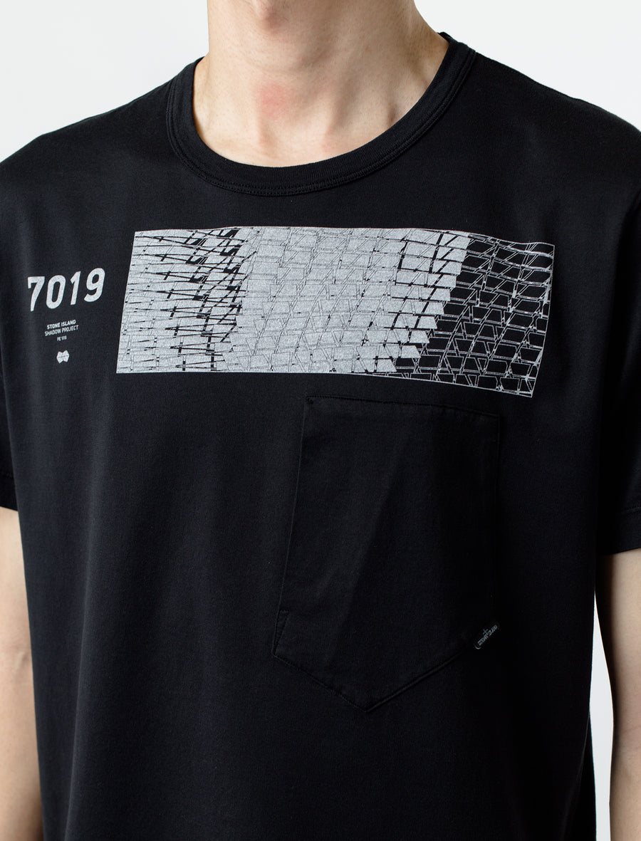 Stone Island Shadow Project Short Sleeve Tee Black